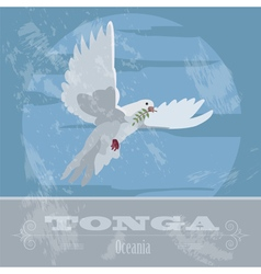 Tonga Dove Retro styled image vector