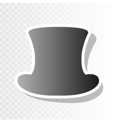 Top hat sign new year blackish icon on vector