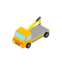 Tow truck icon isometric 3d style vector