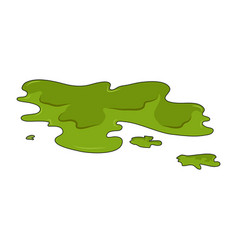 toxic puddle simple design isolated on white vector image