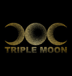 Triple moon magic and astronomy vecor t-shirt vector