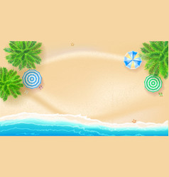 tropical landscape with blue ocean and gold sand vector image