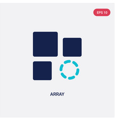 two color array icon from geometry concept vector image