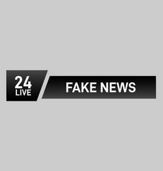 video headline title vector image