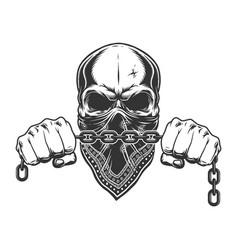 Vintage criminal concept vector