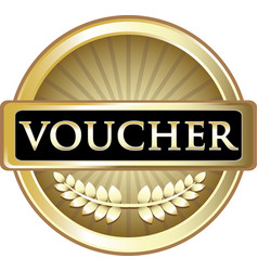 voucher gold icon vector image