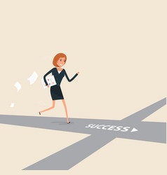 Way of success or success businesswoman concept vector