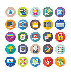 web design and development icons 1 vector image