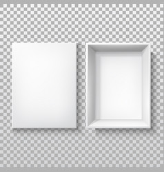 white box with open cap cardboard 3d package vector image