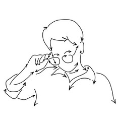 woman taking off glasses made from arrow vector image