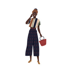 young stylish african american woman in vector image