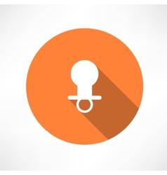 Babys pacifier icon vector image