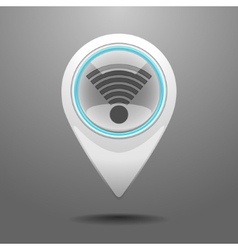 Glossy WiFi Icon vector image vector image