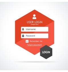 login form page vector image