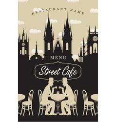 Menu for street cafe vector image
