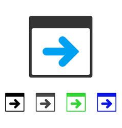 Next calendar day flat icon vector