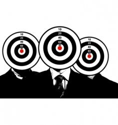 three young business men portrait vector image
