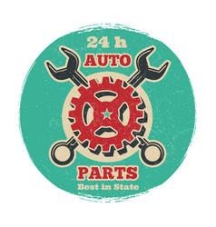 vintage road vehicle repair service logo design vector image