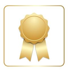 Award ribbon gold icon vector image vector image