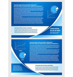 brochure folder info diagram design blue vector image vector image