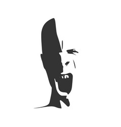 demon or monster screaming vector image vector image