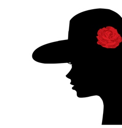 Portrait of a young woman profile vector image