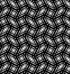 Stripes geometric seamless pattern black and white vector image vector image