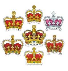 british heraldic crowns vector image