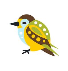 cute colorful bird cartoon character vector image vector image