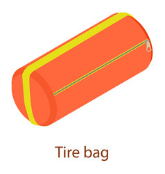 sport bag icon isometric 3d style vector image
