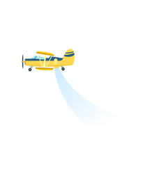 airplane spraying field icon vector image vector image