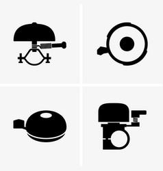 bicycle bells vector image