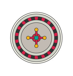 roulette flat vector image vector image
