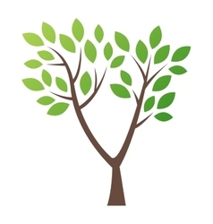 Stylized tree logo icon vector