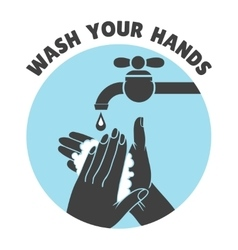 Wash your hands or safe hand washing symbol vector image vector image
