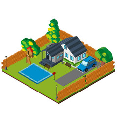 3d design of private house vector image