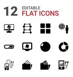 3d icons vector image