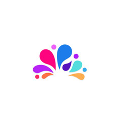 Abstract splash water colored logo vector