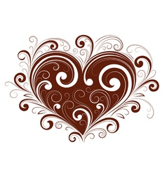 abstract valentine heart vector image