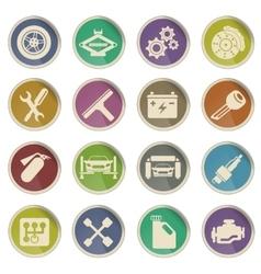 Auto Service web icons vector