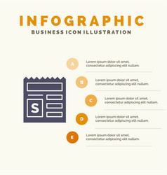 Basic money document bank solid icon infographics vector