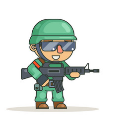 battle war rpg game soldier heroe isolated vector image