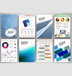 blue business backgrounds and abstract concept vector image