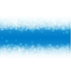blue snow background snowflakes with particles vector image