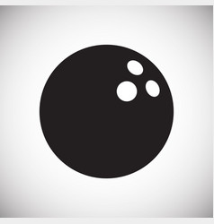 Bowling ball icon on white background for graphic vector