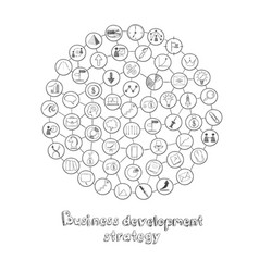business development round concept vector image