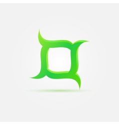 Business green abstract logo vector image