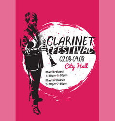 clarinet festival poster vector image