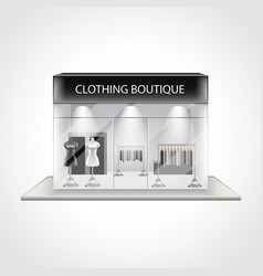 Clothing boutique building isolated vector image vector image
