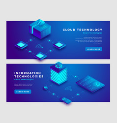cloud technology and information concept banner vector image